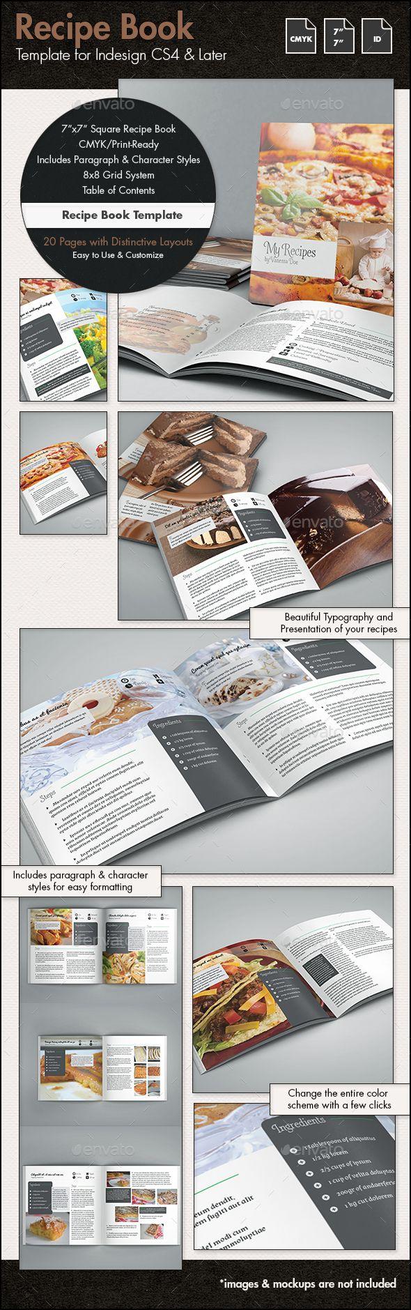 Recipe Book Template - 7x7in | Libros y Cocinas
