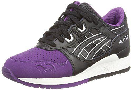 Asics Gel-Lyte Iii Unisex-Erwachsene Sneakers  Violett (Purple/Black 3390)
