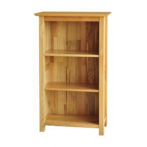 Canterbury Solid Oak Mnk15 3tf Narrow Bookcase Solid Oak