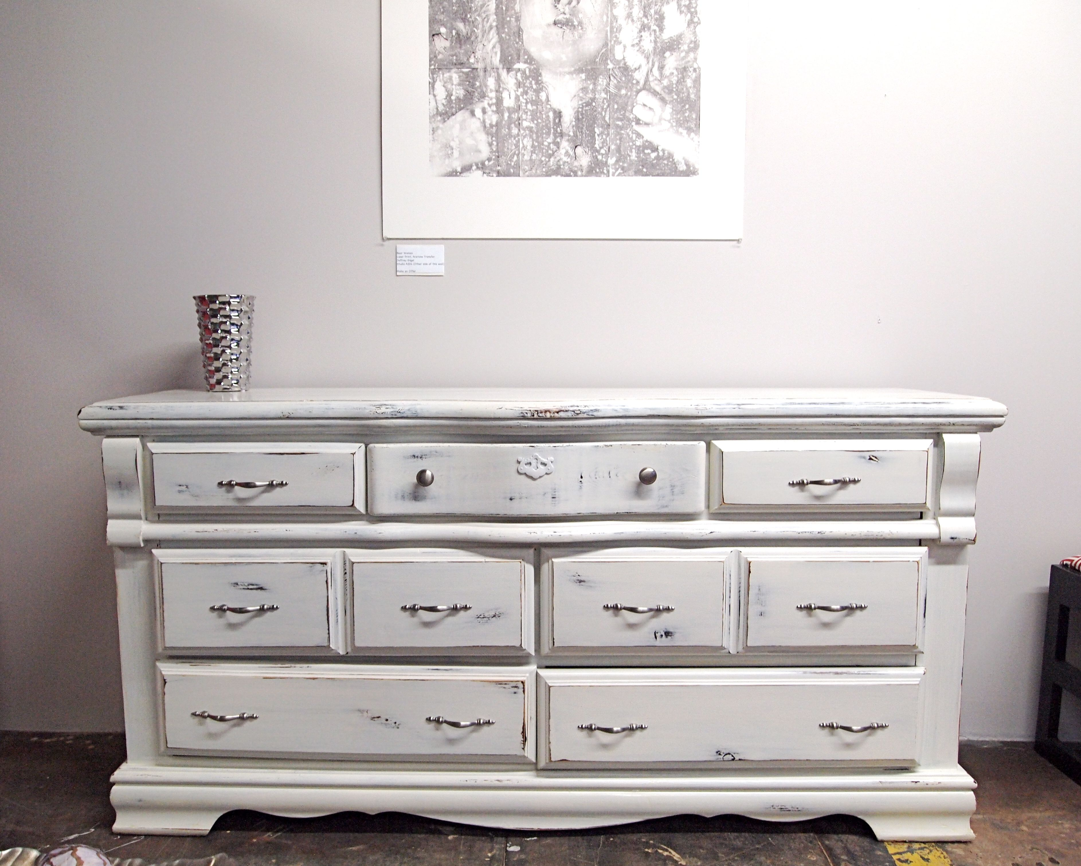 White Distressed Furniture sold- white distressed dresser- achieve that coveted vintage look