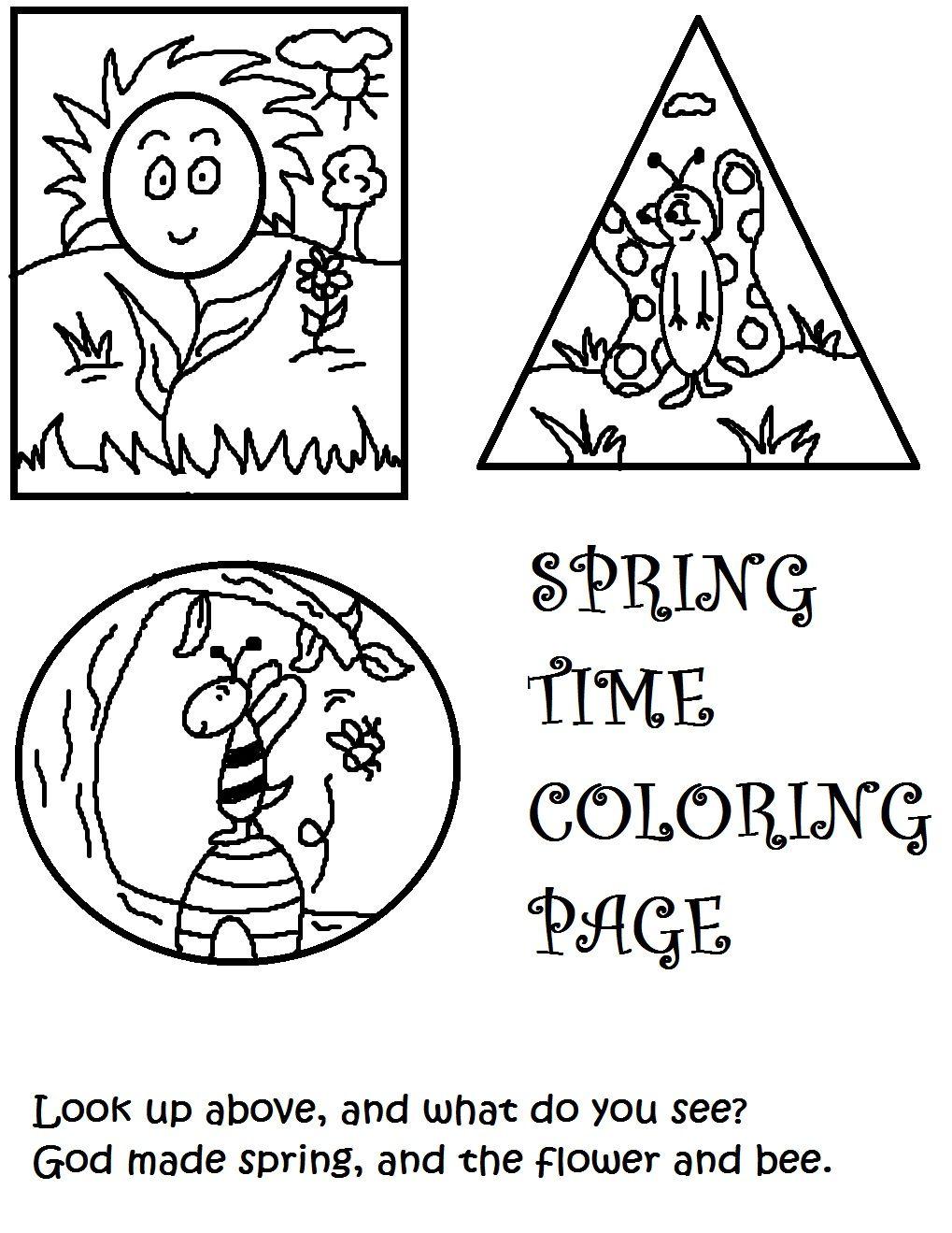 springtime coloring page | Church School/ Sunday School | Pinterest ...