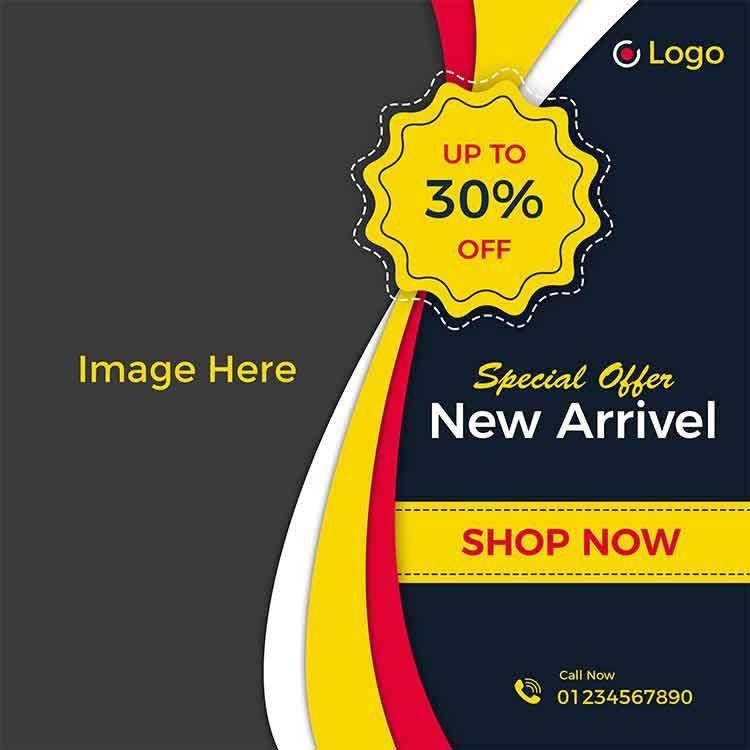 تحميل قالب اعلان منتج Psd مجانا Special Offer Shop Now Image