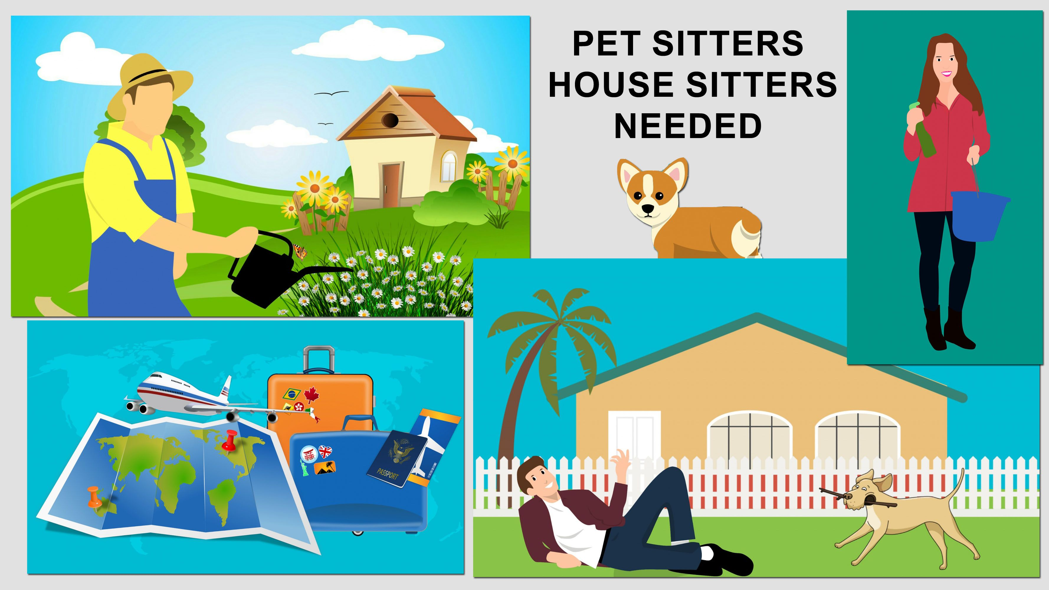 Pet Sitters And House Sitters Needed Work As A House