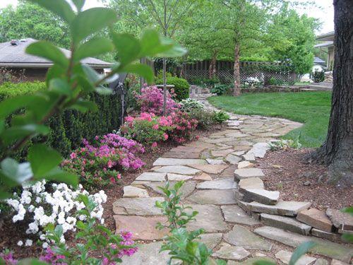 Gorgeous Rock Pathway Ideas