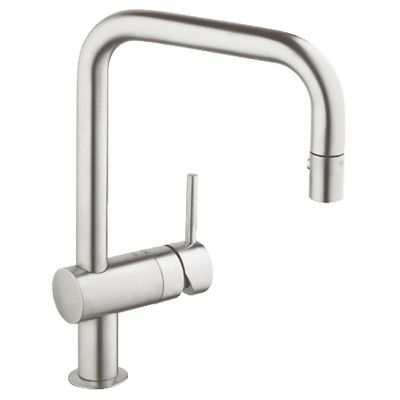 Grohe Minta Single Hole Hot Cold Water Dispenser With Silkmove Kitchen Faucet Faucet Kitchen Sink Faucets