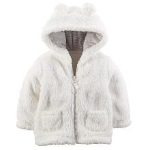 FOR LILLY: Carters Neutral Ivory Sherpa Jacket with 3D Hood Detail
