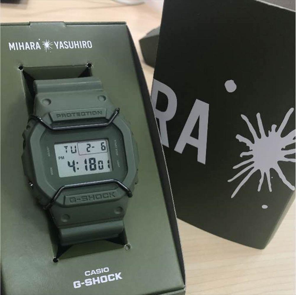 ac24d27b42f slightly used DW-5600 Casio G-Shock x MiharaYasuhiro Khaki Green Limited  Watch  GSHOCK