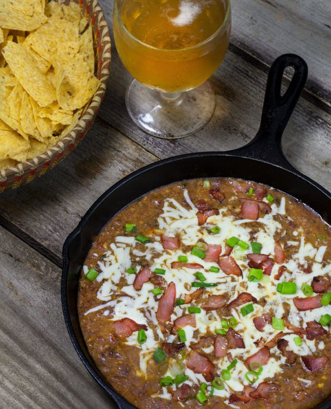 Photo of Tasso Chili Cheese Dip is a festive Cajun meets Mexican dish.