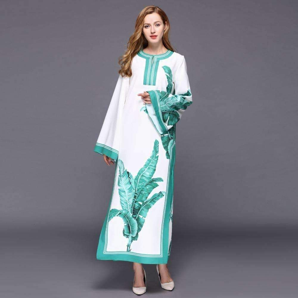 2017 Maxi Summer Dresses Vintage Floral Chinese Style Split Boho ...