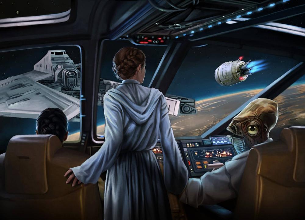Wallpaper Star Wars Space Science Fiction Technology Leia Organa Admiral Ackbar Princess Leia Screenshot Co Admiral Ackbar City Car Automotive Design