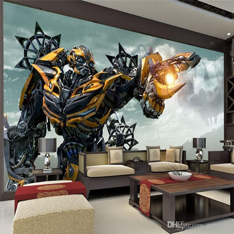 Transformers bumblebee wall mural large wall art photo for Bumble bee mural
