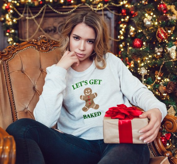Christmas ugly sweater for Women/Men Let\u0027s get baked, baked
