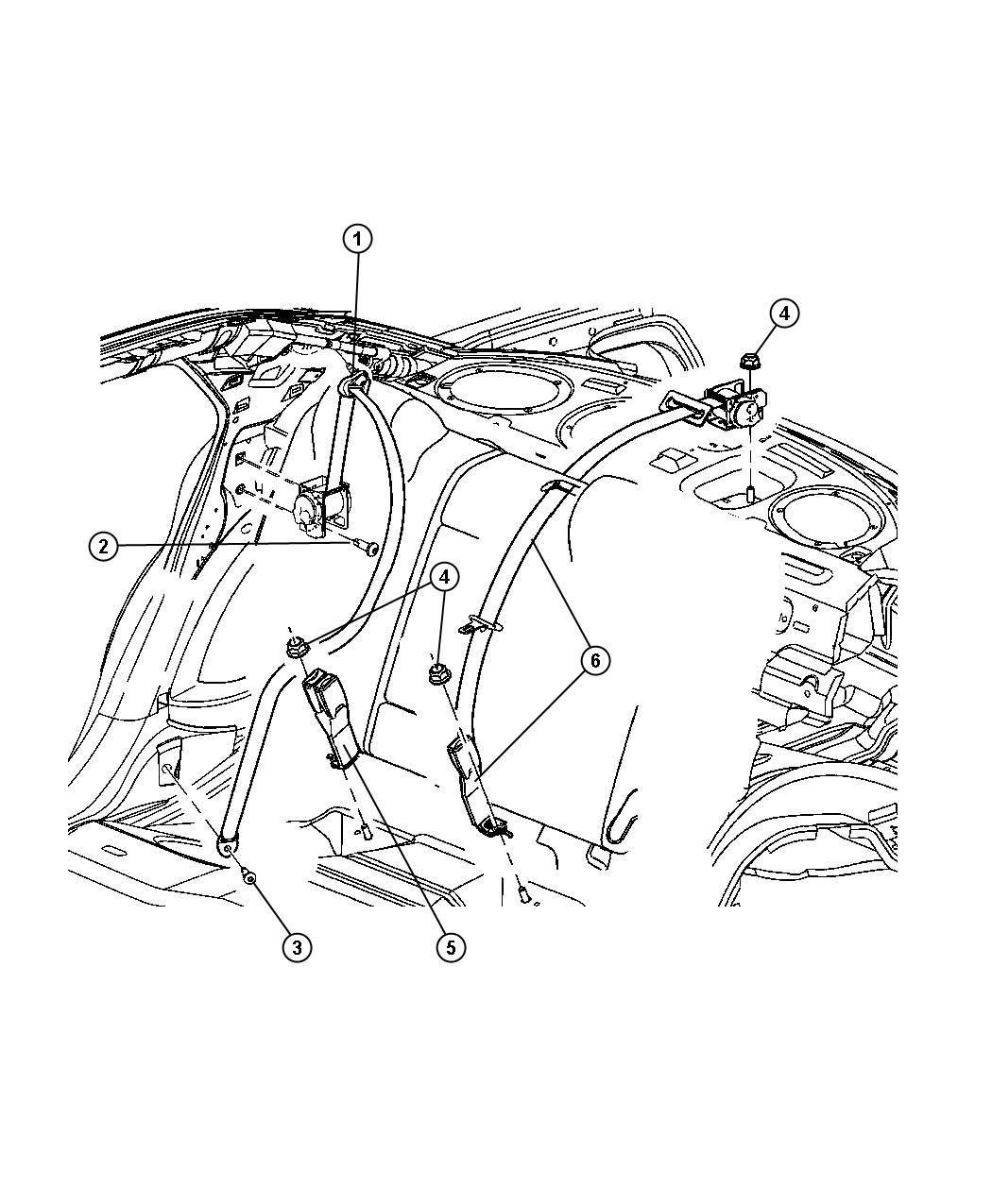 Seat Belt Rear Dodge Charger