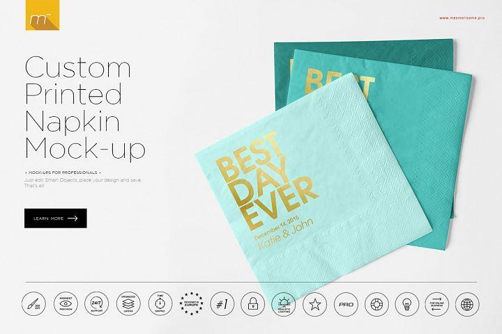 Custom Printed Napkin Mock up