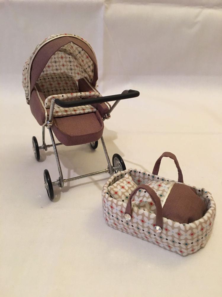 moderner kombi kinderwagen 1 12 f r die puppenstube in spielzeug puppenstuben h user puppen. Black Bedroom Furniture Sets. Home Design Ideas