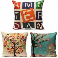 Vintage Cotton Linen Pillow Cases Home Decor Sofa Car Cushion Cover
