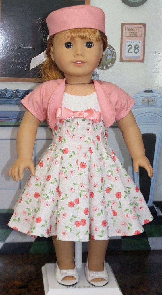 American Girl Style 1950s Dress Ensemble in Peachy Pink | Pinterest