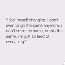 I Do I Feel Myself Changing
