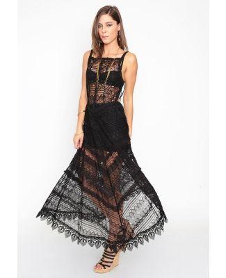 2296341a0 Vestido tejido Free People. El vestido negro es modelo playero ...