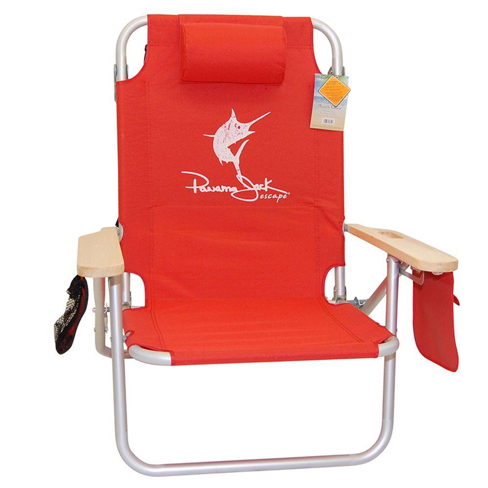 Panama Jack Shoulder Strap Layflat Beach Chair Red Beach Chair Beach Chairs Cool Furniture Beach