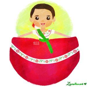 a0069af74 México colores y diseños de sus trajes típicos. Zacatecas