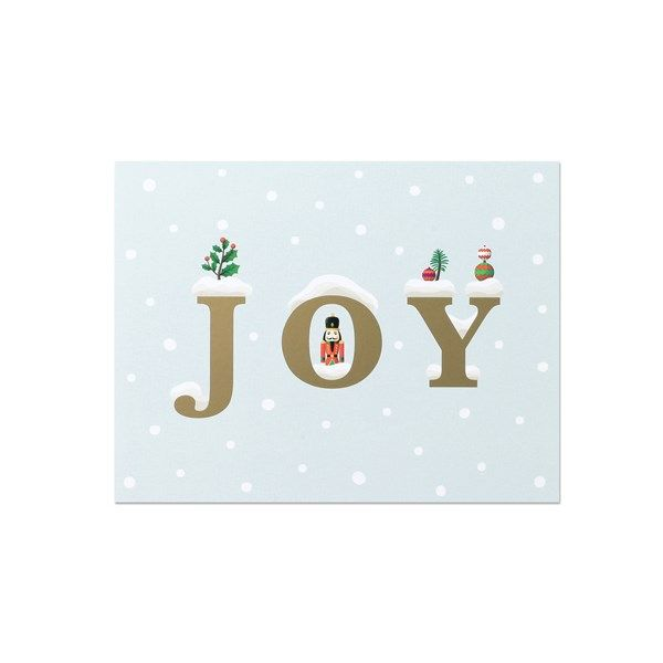 clap clap Holiday Card - Joy Snow