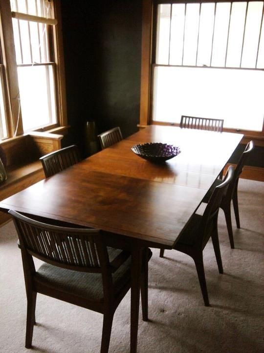 Ricardo My Vintage Drexel Counterpoint Dining Room Table 3 Leaves 6 Chairs