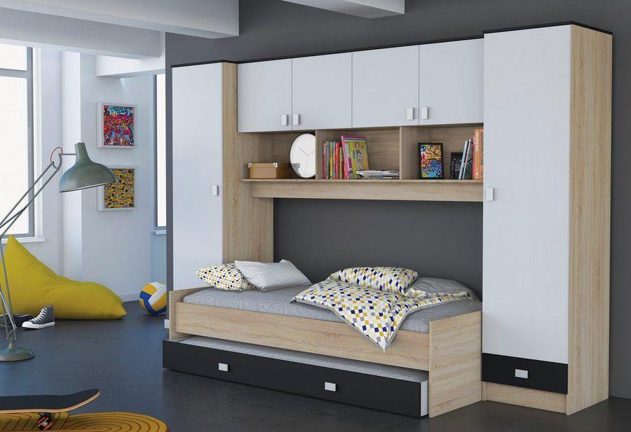 Demeyere Bett Mit Uberbau Und Schubkasten Bett Ideen Zimmer Funktionsbett