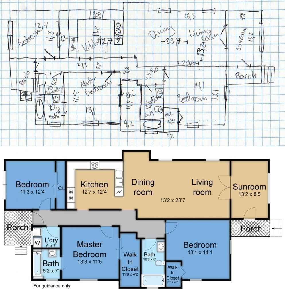 Bon DIY Floor Plan. You Sketch It And Upload. SNAP Does The