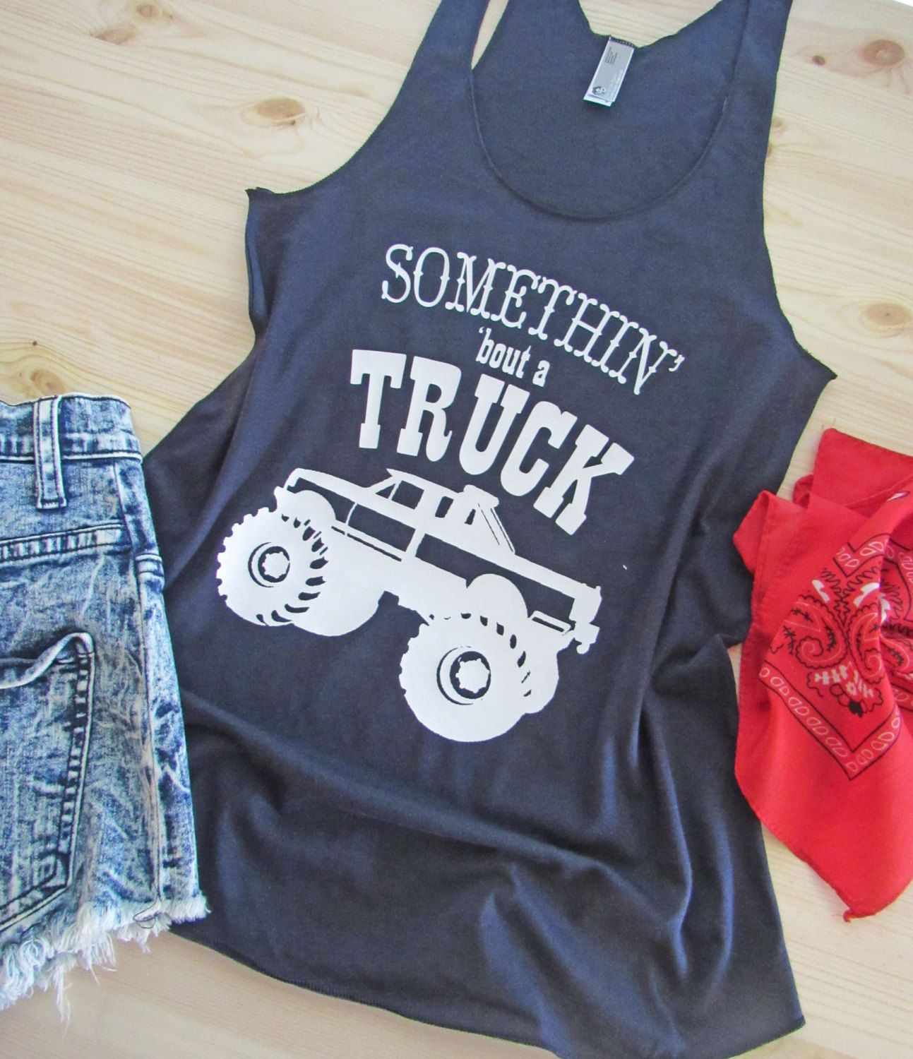 ba0e07ab29976f Somethin  bout a TUCK  Country Tank Top  Racerback Tank  Workout tank by