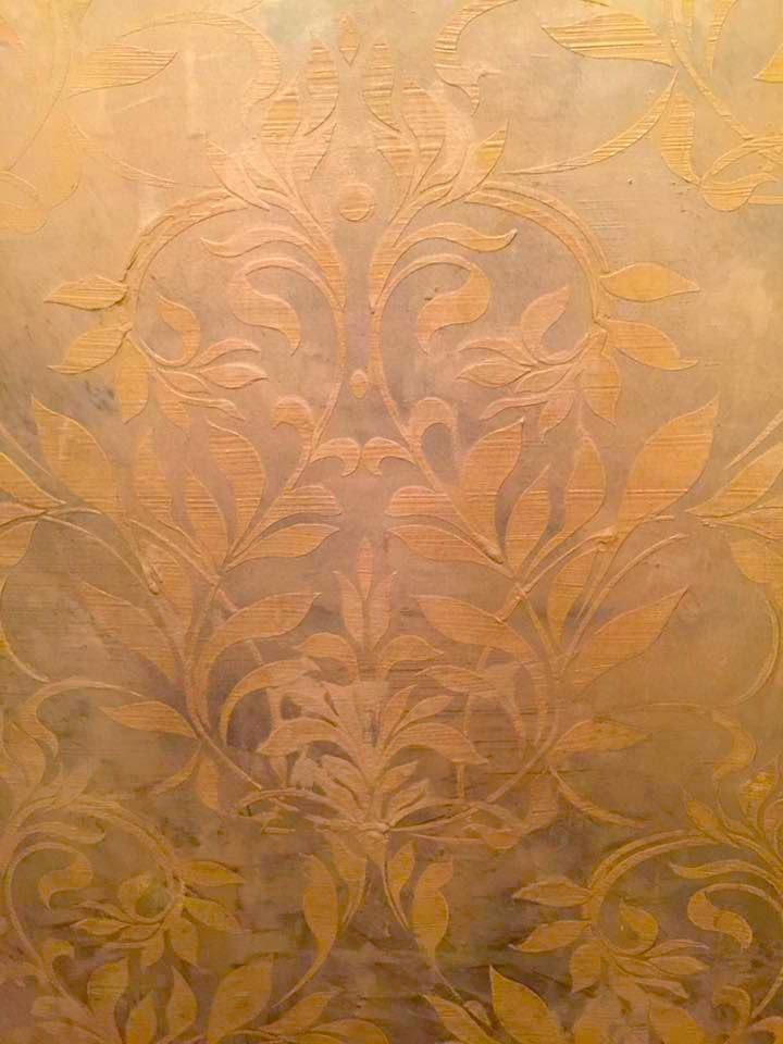 Add Some Texture To Your Walls With An Embossed Design Just Trowel Plaster Through Wal Organica Stencil And Voila