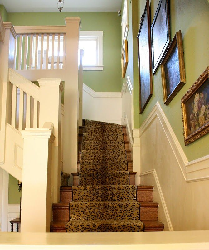 Yes!! One day I will have leopard stairs in my house! | Inspiration on house carport design, house boats design, house frames design, house driveway design, staircase design, house column design, wood stair design, house trim design, house flooring design, house floor design, house flat roof design, house fireplaces design, house doors design, house shelves design, house arches design, rustic stair railing design, house roof garden design, stair step design, house windows, house floor plan with grand staircase,