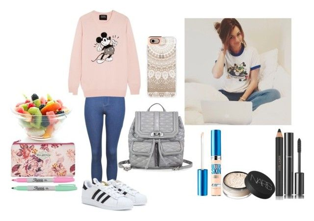 Back to school (Inspired by Eleanor Calder) by veronica-love-one-direction on Polyvore featuring Markus Lupfer, Topshop, adidas, Rebecca Minkoff, Casetify, Maybelline, Chanel, NARS Cosmetics, Estée Lauder and Billabong