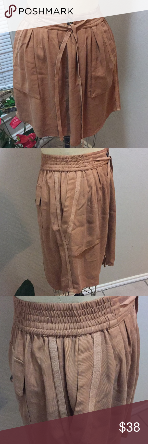 """Anthropologie Mauve Mini Skirt ♠️ two front and two back pockets  ♠️ waist 13 1/2"""" flat ♠️ 19"""" long ♠️ great condition Anthropologie Skirts Mini"""