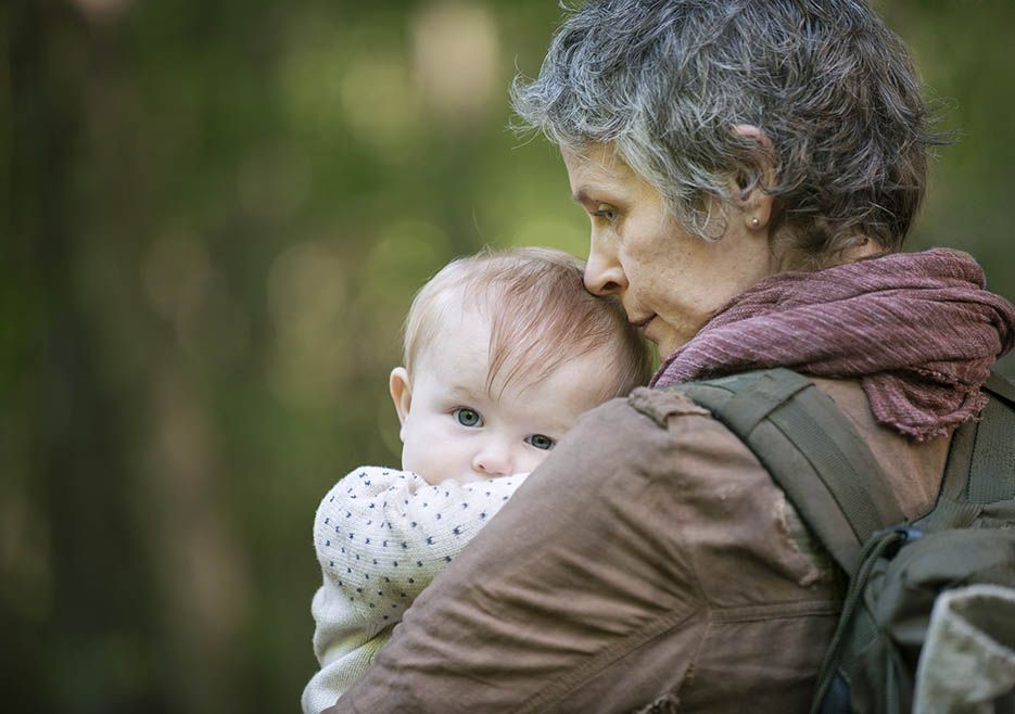The Walking Dead Season 5 Production Photos -- Judith and Carol