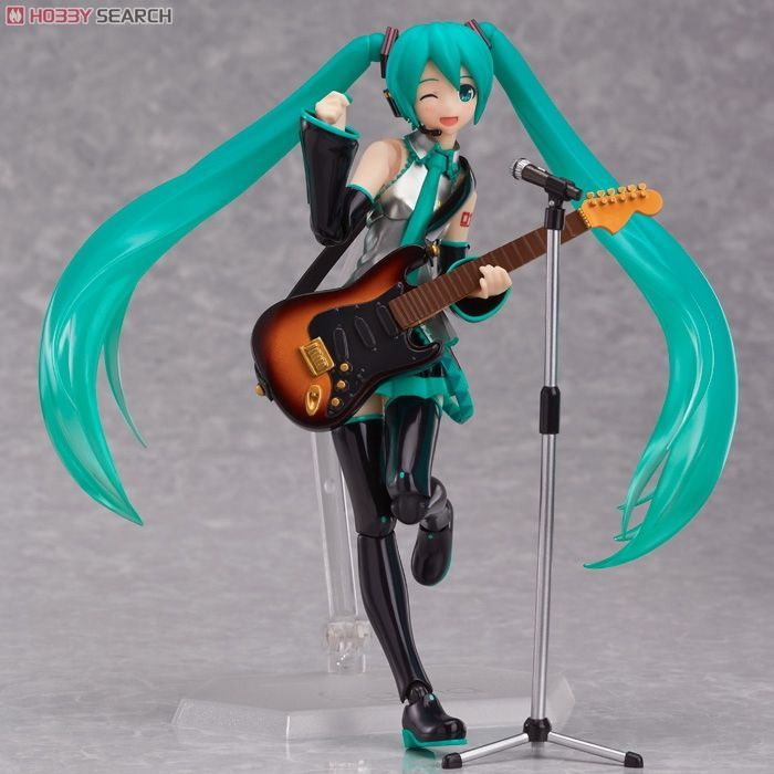 Well-Educated Figma 200 Hatsune Miku Action Figures Bjd Guitar 2.0 Edition 14cm Model Toys Action & Toy Figures