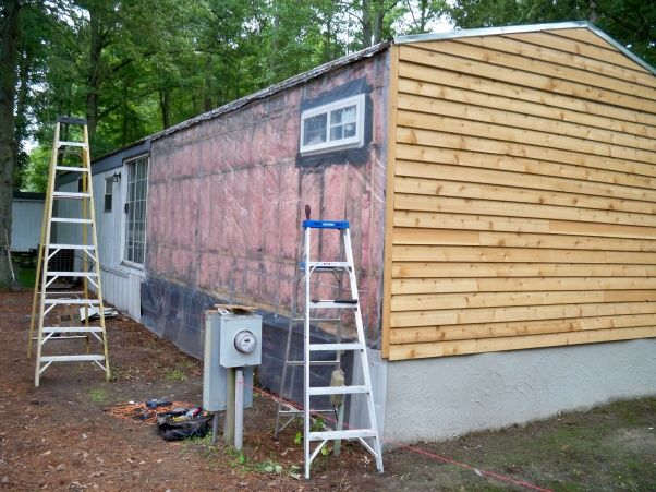 Mobile Home Siding, Mobile Homes, Mobile Home Remodeling, Remodeling Ideas,  Home Exterior Design, Home Exteriors, Single Wide, Trailer Remodel, ...