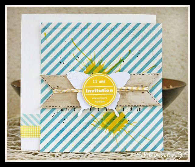 scrap plaisir cartes d 39 invitation pour l 39 anniversaire de ma fille 11 ans diy carte. Black Bedroom Furniture Sets. Home Design Ideas