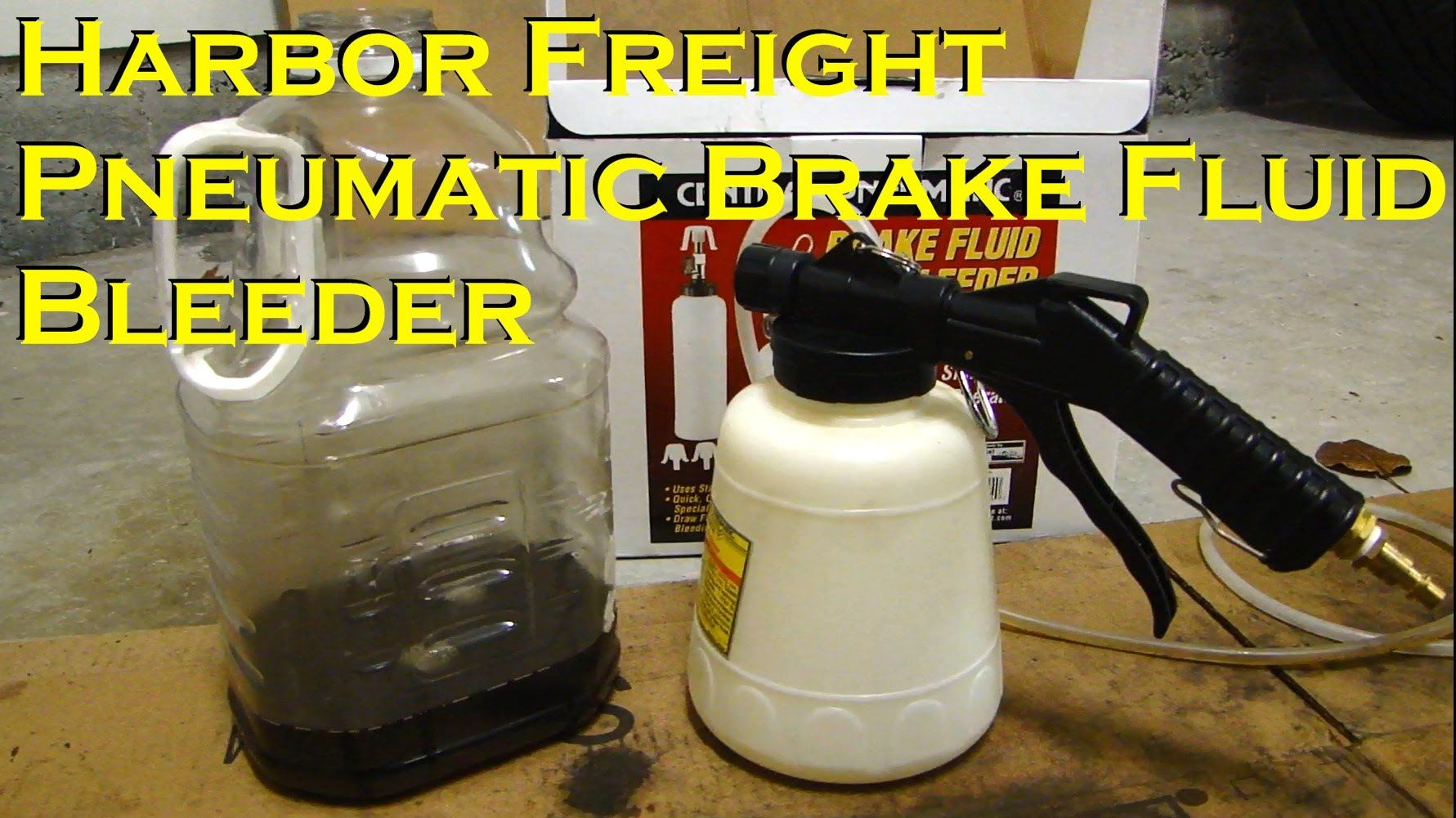 Harbor Freight Pneumatic Brake Fluid Bleeder One Person