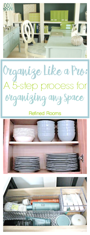 Learn how to organize any space in your home using this simple 5-step process. This professional organizer shares all of her tips and tricks! #style #shopping #styles #outfit #pretty #girl #girls #beauty #beautiful #me #cute #stylish #photooftheday #swag #dress #shoes #diy #design #fashion #homedecor