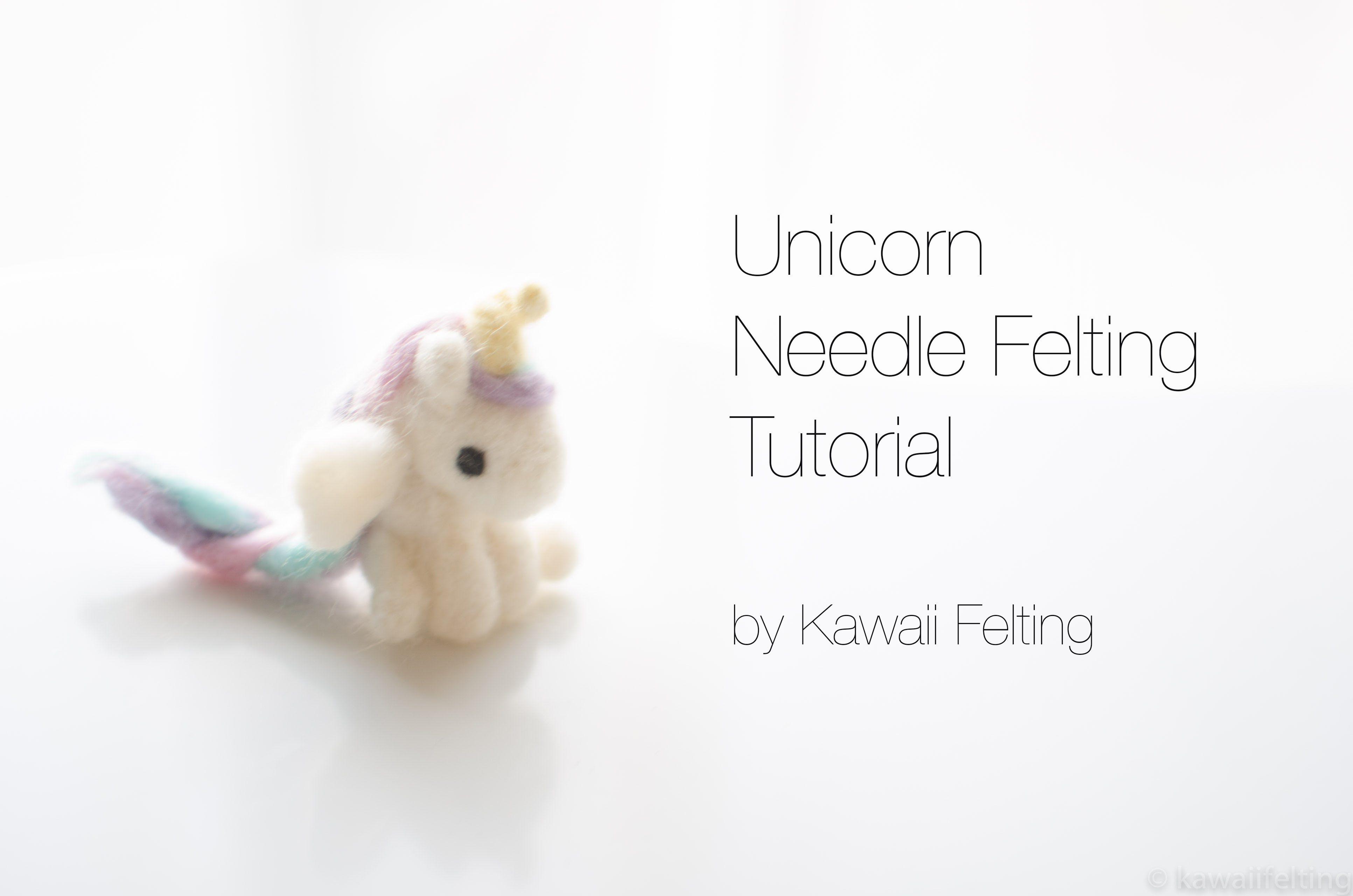 Unicorn Needle Felting Tutorial DIY (한글자막 CC~ 니들펠트) - YouTube