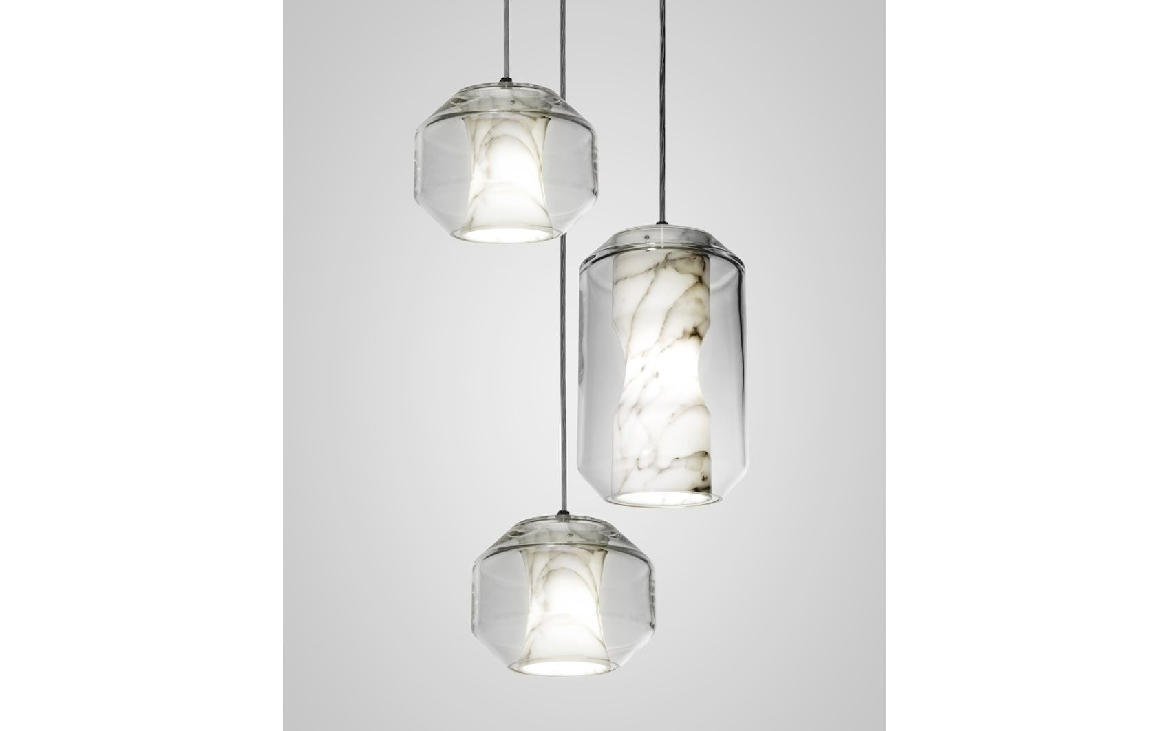Croppedimage680825 Chamber Chandelier 3 Piece Satin White Ceiling ...