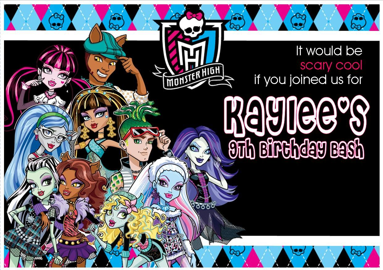 I MADE IT MYSELF! ;) #monsterhigh #birthday