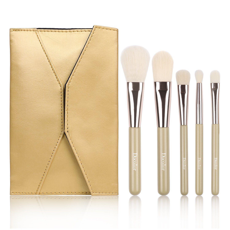 Docolor 5Pcs Makeup Brushes Set Foundation Eyeshadow Kits