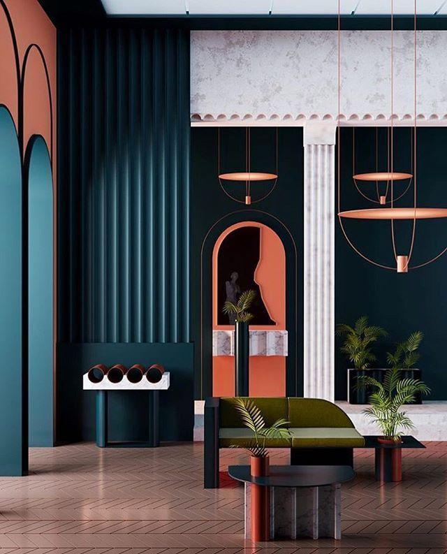 Interieur von @ as2_3d. . #architektur #interieur #design #skulptur ...