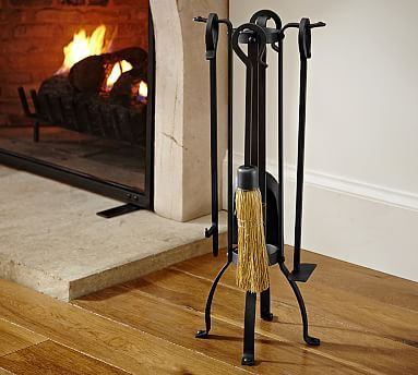 Industrial Fireplace Small Tool Set Industrial Fireplaces Classic Fireplace Fireplace Accessories