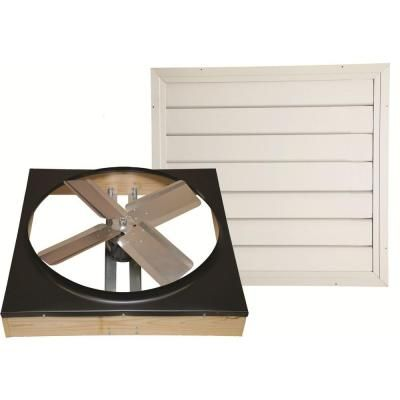 Cool Attic 24 In Direct Drive Whole House Fan With Shutter Cx242ddwt Whole House Fan House Fan House Attic Fan