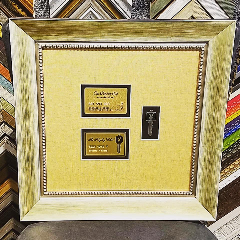 A front door key to the Playboy Mansion, custom framed and preserved ...