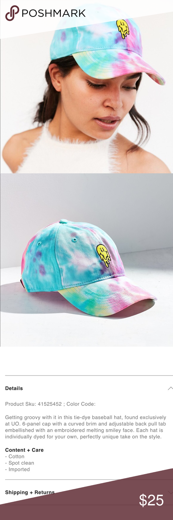 Urban Outfitters Melting Smile Baseball Hat Baseball Hats Urban Outfitters Urban Outfitters Accessories