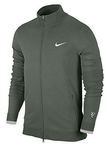 NIKE Premier RF Full Zip Men's Tennis Jacket Grey Large Nike http://www